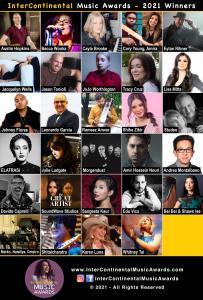 Headshots of the InterContinental Music Awards 2021 Winners