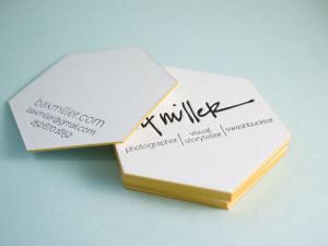 Hex shape business card