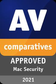 Mac 2021 - Certificate - AV-Comparatives
