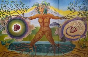 Photograph of Matriarchal Mural painting by Judy Baca