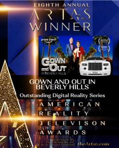 Gown and Out in Beverly Hills wins the Outstanding Digital Reality Series Award