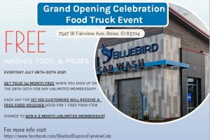 Bluebird Express Car Wash Fairview & Cole Grand Opening and Food Truck Event