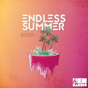 Album cover artwork with palm trees and water.