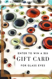 Enter to Win a $25 gift card from handmadeglasseyes.com