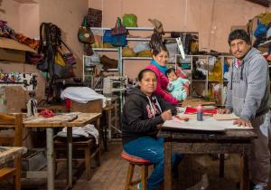 The Quispe Mejia Family of Artisans dedicated to hand fabricate leather handbags and accesories