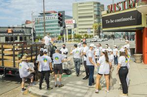 East Hollywood cleanup organized by the Church of Scientology Los Angeles