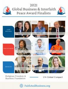 2021 Global Business & Interfaith Peace Award Finalists