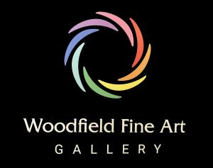 Image of color logo of the Art Gallery in multiple colors with black background