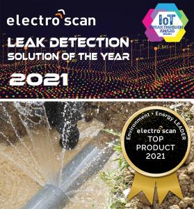In 2021, Electro Scan Inc. was awarded Leak Detection Solution of the Year by IoT Breakthrough and Product of the Year by Environment + Energy Leader.