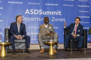 Steven Witkoff, Steve Nson & Anthony Scaramucci speaking at ASDSummit 2019