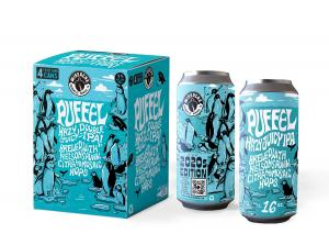A photo of WISEACRE's Puffel Hazy Double IPA
