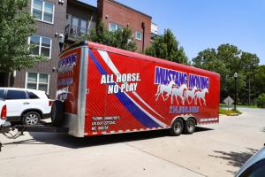 Mustang Moving truck in dallas texas
