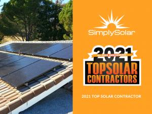 Simply Solar Recognized as Top U.S. Solar Installation Company