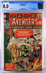 Marvel Comics Avengers #1 (Sept. 1963), graded CGC 8.0, with the origin and first appearance of the Avengers ($23,125).