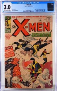 Copy of Marvel Comics X-Men #1 (Sept. 1963), featuring the origin and first appearance of the X-Men ($13,125).