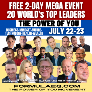 20 Top Thought Leaders join together for this free 2-day Summit, July 22nd & 23rd including Dr. Rollin McCraty, Dr. John Demartini, Mark Victor Hansen, Jennifer K. Hill and others