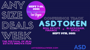 ASDToken - Blockchain, SPACs & Venture Capital Event (AnySizeDeals Week)