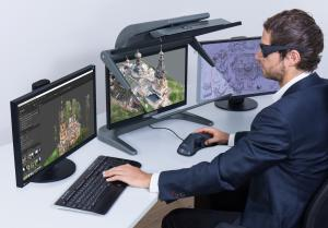 3D stereo photogrammetry at the highest level: certified symbiosis of software and hardware with Agisoft Metashape Pro and 3D PluraView stereo monitor enables best viewing comfort in excellent 3D quality.