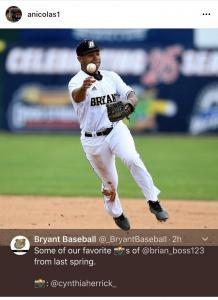 Collegiate Baseball Player Brian Nicolas