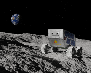 Lunar rover on the Moon.