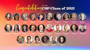 Headshots and names of all 2021 CSP recipients