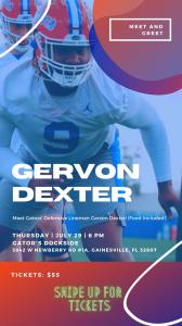 Gervon Dexter Meet & Greet Event