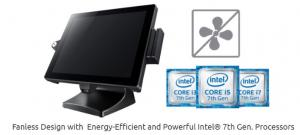 Fanless Design with  Energy-Efficient and Powerful Intel® 7th Gen. Processors