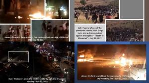 July 24, 2021 - On the ninth night of the uprising, defiant youths in Susangerd and Ahvaz resist repressive forces.