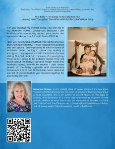 """Dr. Marianne Cintron's """"I'm Going to Be a Big Brother!"""" - Back Cover"""