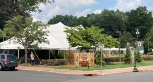 """The """"big tent"""" at 926 Amboy Avenue in Edison.  Meet Your Neighbors there every Monday!"""