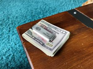 Thumbies' Stainless-Steel Money Clip with Fingerprint Personalization