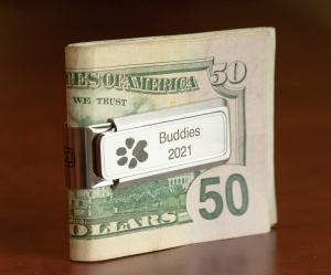 Thumbies' Stainless-Steel Money Clip with Paw Print Personalization