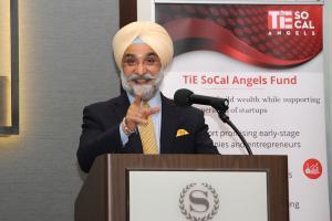 Hon. Ambassador Taranjit Singh Sandhu addressing TiE SoCal Charter Members