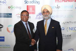 Anshuman Sinha, President TiE SoCal & Hon. Ambassador Taranjit Singh Sandhu