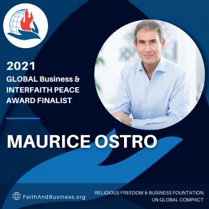 Maurice Samuel Ostro, OBE, KFO, Finalist in the 2021 Global Business & Interfaith Peace Awards