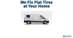 Flat Tire Service Van offering Mobile Tire Repair Services