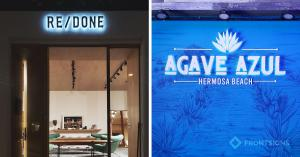 S/S 2021 signage trends - illuminated signage by Front Signs