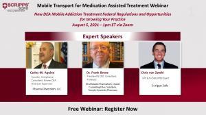 Scripps Safe Mobile Transport for Medication Assisted Treatment webinar announcement