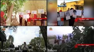 July 30, 2021 - Tehran and Gorgan – Activities of Resistance Units and MEK supporters in commemoration of the victims of the 1988 massacre – July 29, 2021.