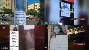 July 30, 2021 - Tehran, Yazd, Rasht, and Bandar Abbas – Activities of Resistance Units and MEK supporters in commemoration of the victims of the 1988 massacre – July 29, 2021.
