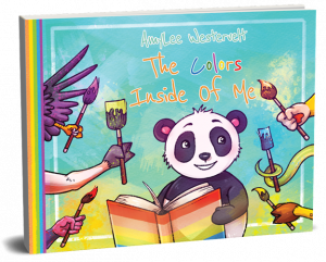 Color and vibrant book cover with panda