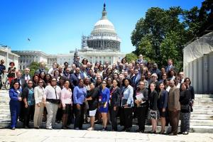 AAAED Members in front of the US Capitol