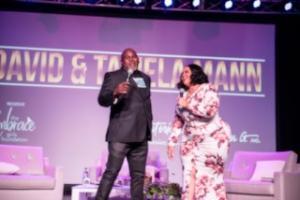David and Tamela Mann perform at Embrace benefit gospel concert.