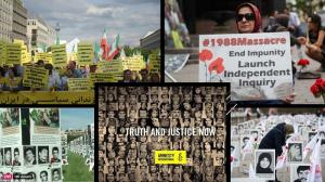 """24th August, 2021 - """"We urge the international community to recognize the massacre of 30,000 political prisoners in 1988 as genocide and a crime against humanity,"""""""