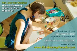 Recruiting for Good is sponsoring creative art collage celebrating parents who work and provide for their family #celebratingparents #labordayweekend #recruitingforgood www.CelebratingParents.com