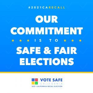 California Recall Election Vote Safe