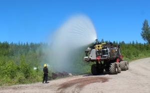 Extinquishing tests with the South Savo Rescue Department in Mikkeli_Finland
