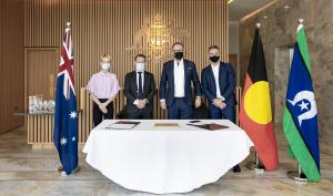 Photo of Official Signing between Australia Expo 2020 Pavilion and Black.