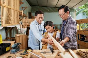 This image is of members of an Asian-American family business