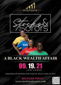 Sorority Women Promoting Stocks & Sorors Event in Atlanta, GA